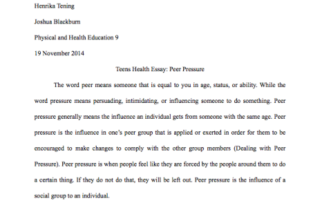Examples Of An Essay Paper  Compare And Contrast High School And College Essay also Compare And Contrast Essay High School Vs College Physical And Health Education  Henrika Tenings Portfolio Essay On Management